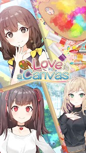 Love is a Canvas Mod Apk: Hot Sexy Moe Anime Dating Sim (Free Choices ) 1