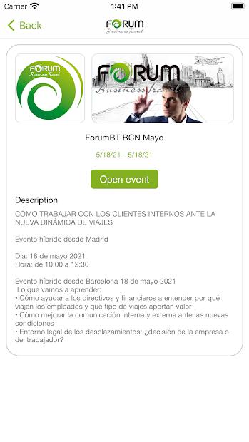 Forum Business Travel screenshot 1