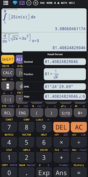 Captura 4 de Calculadora científica 82 es plus advanced 991 ex para android