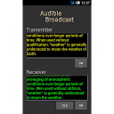 Audible Broadcast text to sound walkie-talkie