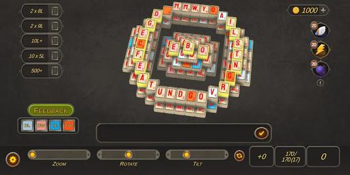 stacks - mahjongg meets words! screenshot 2