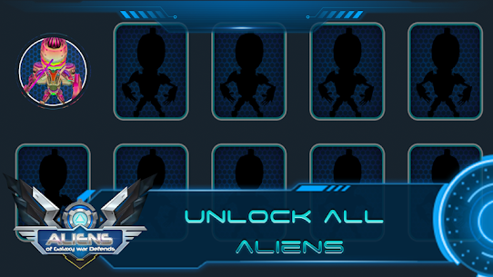 Aliens of Galaxy War Defends Game Hack Android and iOS 3