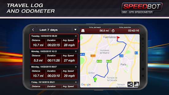 Speedbot. Free GPS/OBD2 Speedometer screenshots 5
