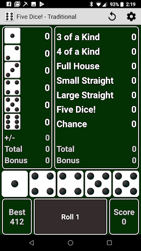 Five Dice! Free 23.1 screenshots 1