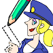 Draw Happy Police - Drawing Games for trivia life