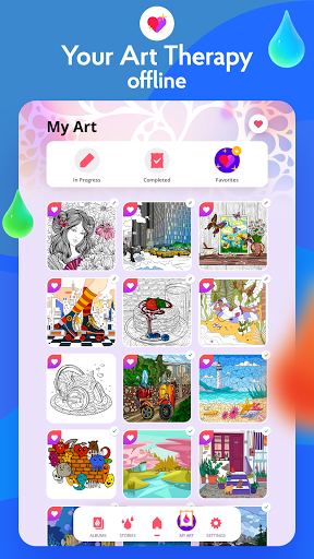 Painting games: Adult Coloring Books, Drawings screenshots 16