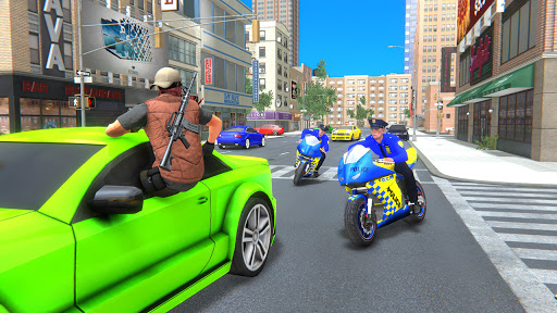 US Police Bike Gangster Crime - Bike Chase Game 3D 1.12 Screenshots 2