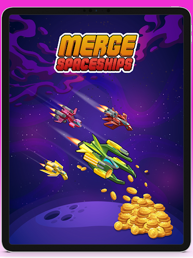 Merge Spaceships - Best Idle Space Tycoon modavailable screenshots 5