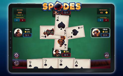 Spades - Offline Free Card Games screenshots 14