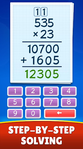 Math Games - Addition, Subtraction, Multiplication apkslow screenshots 5