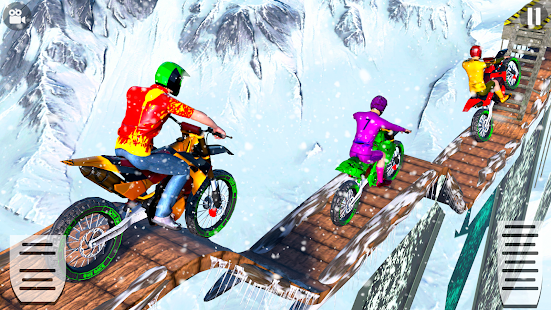 Snow Tricky Bike Impossible Track Stunts 2021 1.6 Screenshots 4