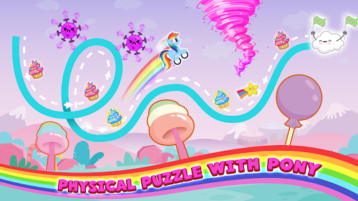 Pony Go : Drawing Race - Rainbow Paint Lines 1.0.0 screenshots 1