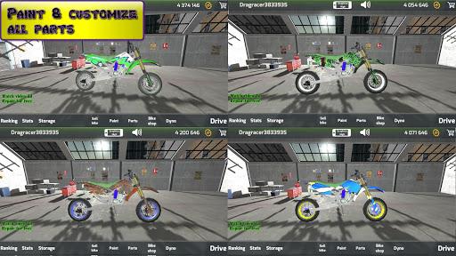 Motorbike  Online Drag Racing - Wheelie racing 3D screenshots 22