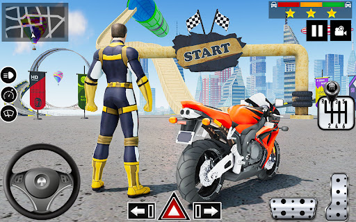 Impossible Stunts Bike Racing Games 2018: Sky Road  screenshots 12