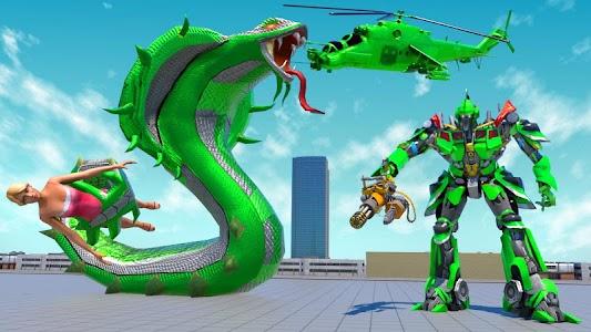 US Police Snake Robot Transform Shooting Game 1.15