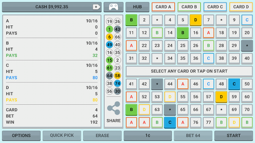Colorful Keno: Las Vegas Casino Keno 4 Card Keno 1.7 screenshots 8