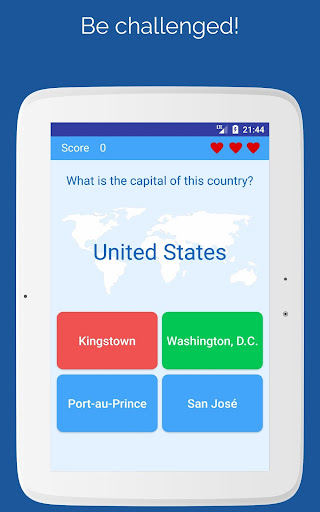 Capitals of the countries - Quiz  screenshots 10