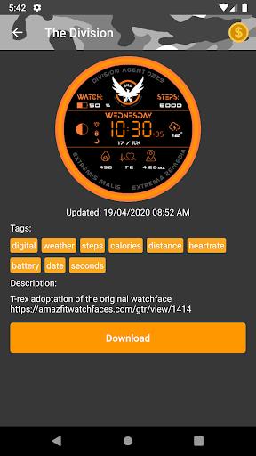 Amazfit T-Rex - Watch Face 5.3.3 screenshots 2