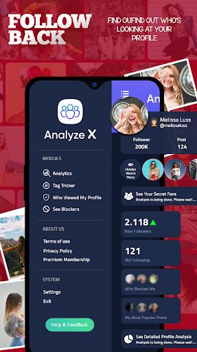 Analyze X - Followers Analytics for Instagram screenshots 2