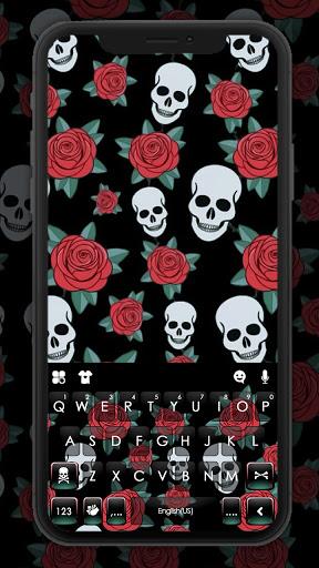 Roses Skull Keyboard Background hack tool