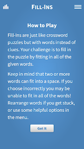 Free Fill-Ins · Word Fit Puzzles 5
