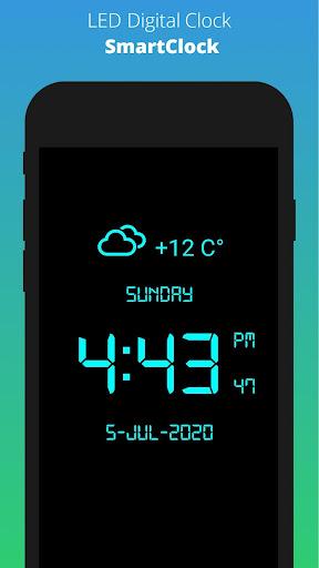 SmartClock - Digital Clock LED & Weather 6.2 screenshots 1