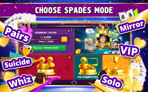 VIP Spades - Online Card Game screenshots 19