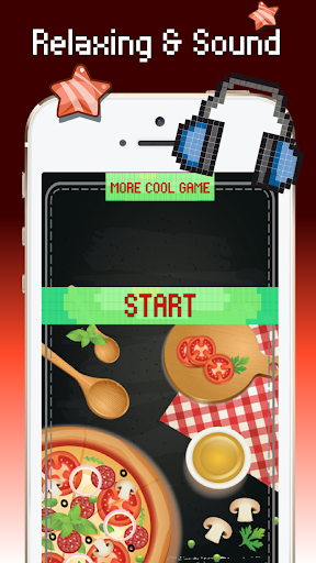 Food color by number : Pixel art coloring screenshots 1