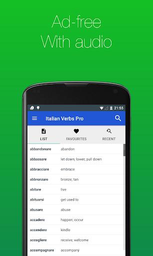 Download APK: Italian Verb Conjugator Pro v3.3.7 [Paid] [SAP]