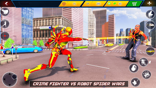Flying Robot Rope Hero - Vegas Crime City Gangster 3.5 screenshots 11