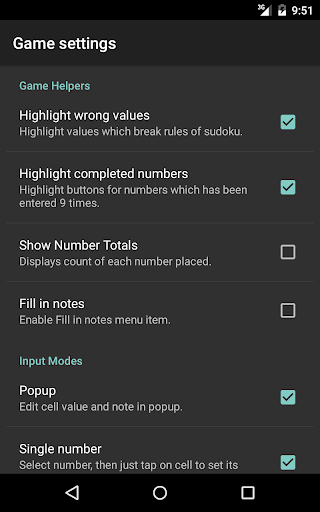 Open Sudoku 3.6.0 screenshots 21