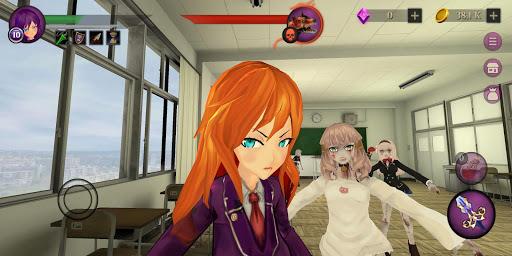 Anime High School Zombie Simulator apkpoly screenshots 3
