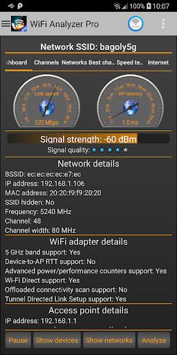 WiFi Analyzer Pro screen 2