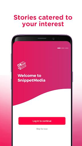 SnippetMedia - Philippine News, Videos & Rewards 3.7.8 Screenshots 1
