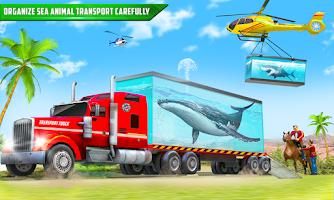 Sea Animals Transport Truck Driving Simulator