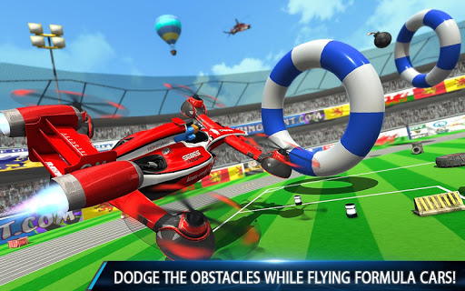Flying Formula Car Games 2020: Drone Shooting Game apktram screenshots 8