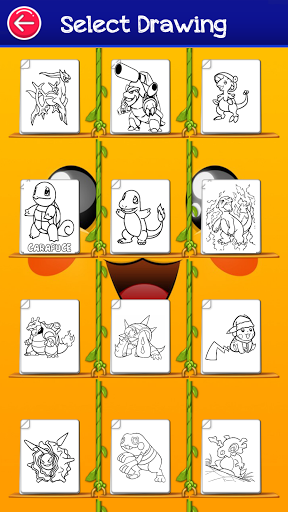 poke coloring pika cartoon game 3.0 screenshots 6
