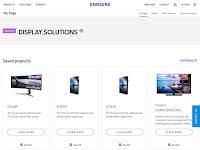 screenshot of SAMSUNG Display Solutions