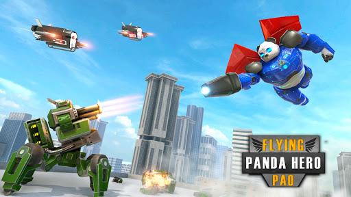 Flying Police Panda Robot Game: Robot Car Game screenshots 3