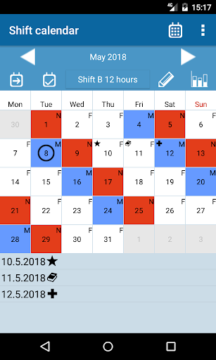 Shift calendar 1.9.0 screenshots 1