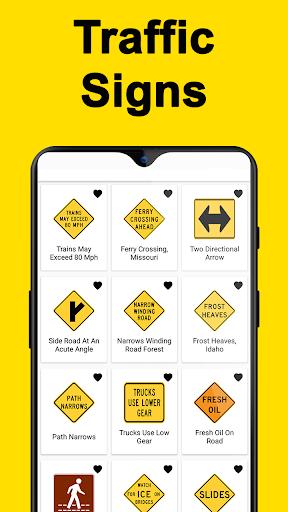 DMV Permit Practice, Drivers Test & Traffic Signs  Screenshots 1