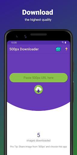 Download APK: 500px Downloader v1.9 [Paid] [Patched]