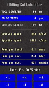 Milling Cut Calculator