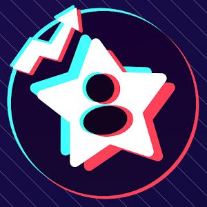 Tik Followers Up Fans likes Tracker for TikTok 1.0.0 by RoxeenM Studio logo