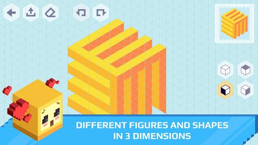 isometric draw 3d - geometric art screenshot 1