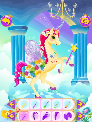 Unicorn Dress Up - Girls Games apkslow screenshots 8