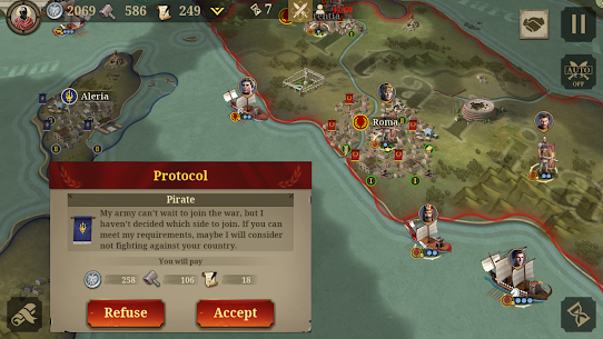 Great Conqueror: Rome MOD APK 1.6.2 (Unlimited Medals) 10