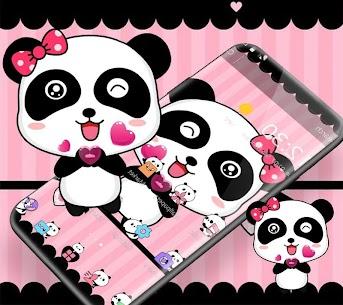 Pink Cute Bowknot Panda Theme 1.1.3 (MOD + APK) Download 3