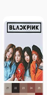 Blackpink Pixel Art   K-pop Color by Number 3.0.6 screenshots 1