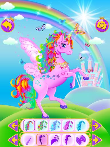 Unicorn Dress Up - Girls Games apkslow screenshots 5